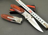 belt homes - Pocket Knife Folding Hunting Knife Outdoor Boutique Creative Color Wood Knife Belt Clip Stainless Steel Home Self Defense Lifesaving Gift