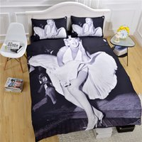 monroe bedding - New Arrival Marilyn Monroe Bedding Set Vivid D Print Home Textiles White And Black Classic Comforter Set Twin Queen King