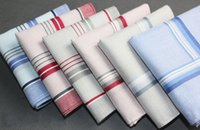 Wholesale Hankerchief Cotton Handkerchiefs Mens Pocket Square cm Scarfs Vintage Hankies A