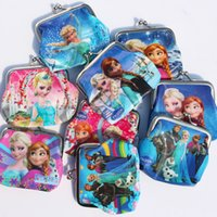 Red baby party bags - Frozen New baby girls Coin Purses kids wallet chilldren s wallet princess Elsa Anna money bag party supplies