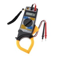 amp housing - DM6266 Plastic Housing Ohm Volt Amp LCD Clamp Meter Yellow Gray Ammeter