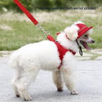 Wholesale Fashion Breathable Fabric Mesh Round Brim Pet Sun Hat Super Cute Sun Cap with Ear Holes H15668