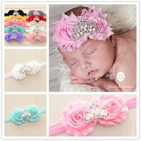 Wholesale 7pcs Pink Baby Shabby Chic Headband Baby Headband Baby girl Headband Baby Princess Crown Headband Tiara Headband