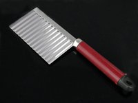 Wholesale Stainless Steel Knife Wavy Edged Kitchen Knife For Vegetable Fruit Potato Cutting Peeler