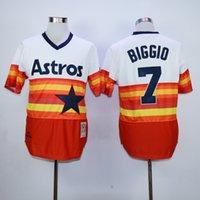 astros for sale - 30 Teams Retro Houston Astros Craig Biggio Throwback Baseball Jerseys By M N For Sale