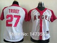 angels baseball shirts - Womens Mike Trout Jersey White Pink Stitched Premier Los Angeles Angels Women Baseball Jerseys Shirt S XXL
