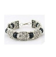 Wholesale Beautiful Black jade Tibet Silver Bracelet