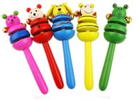 Wholesale Baby toys baby early education of infant toys wooden rattle