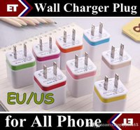 Wholesale 100PCS A Wall Charger Plug US EU Dual USB AC Power Adapter ports for IPAD mini air Ipod iphone s s plus for Samsung HTC JE7