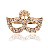 african masks animals - Y122 clothing accessories manufacturers selling fashionable diamond brooch foreign Hot Mask