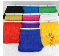 Wholesale trimming Encryption tassel ranked Latin dance skirt stage clothing sewing accessories lace cm lantern spike