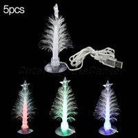Cheap Wholesale-Multicolors LED Romantic USB Powered Tree Color Changing Light Lamp Christmas New Year Tree with Sucker