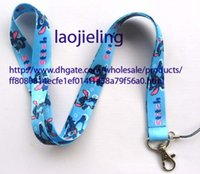 apple charms - NEW Sell Pieces Stitch blue long cell phone neck straps charms lanyards phone accessories