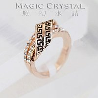 apple red tiara - Fashion Jewelry Italina Red Apple k Rose Gold Plated Austrian Crystal Rings retro Ring new Gift