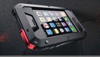 achat en gros de metal phone case-Brand imperméable à l'eau Dropproof étanche à l'épreuve des chocs boîtier de téléphone pour iPhone 4 4s 5 5s 5c 6 6s 4.7 plus couverture métallique arrière