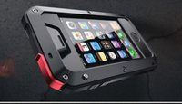 Wholesale Brand Waterproof Dropproof Dirtproof Shockproof Phone Case for iPhone s s c s plus Back Metal Cover