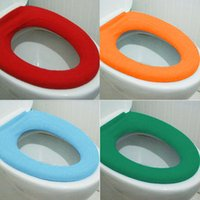Cheap UK Washable Soft WC Toilet Closestool Cloth Seat Lid Warm Cover Pads Bathroom Wonderful Gift