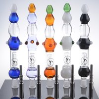 Wholesale Nectar Collectors with GR2 Titanium Nail Nectar Collector Kit Colored Oil Concentrate Pipe Glass Nectar Collector Recycler Water Bongs Dabs
