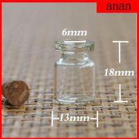 Wholesale Hot Mini Glass Bottle Vials Charms Pendants Clear Transparent Bottles With Cork MM