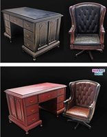 big desk chairs - MAGIC BOX Scale Office Desk Chair Set A Black B Brown Scene Accessories for quot Action Figure Toys Collection Gift