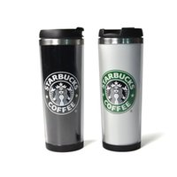 starbucks - Starbucks Black White Double Wall Stainless Steel Travel Tumbler Mug Tea Cups Wine Cups