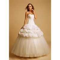 Wholesale Lace Corset Ball Gown Taffeta And Tulle Lace Up Wedding Dresses Custom Made