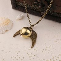 antique snake necklace - movie jewelry Harry Pendant Necklace potter The Deathly Hallows Antique Bronze Snitch The Golden Snitch Charms Pendant Necklace Colors