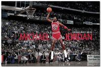basketball dunk pictures - Michael Jordan Dunks Art Silk Poster Basketball Star Pictures x36 inch