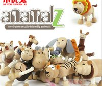 Wholesale Wildlife Maple Australia Anamalz toy organic animal wooden dolls farm educational