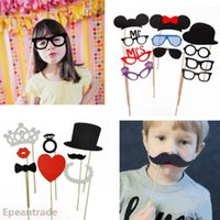 Wholesale 23PCS DIY Photo Booth Props Mustache On A Stick For Wedding Birthday Christmas Party