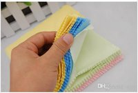 Wholesale 500pcs Microfiber Cleaning Cloth for LCD Screen Tablet Phone Computer Laptop Cloth Glasses Lens Eyeglasses Wipes Clean Cloth x5 quot