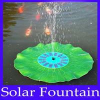 Wholesale solar floating lotus fountain pump