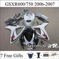 Wholesale White Light Gray Black For Suzuki GSXR750 GSXR600 GSXR GSXR k6 Compression Racing Fairing Kit Compression Gifts