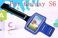 adjustable neoprene band - DHL Armband For Galaxy S6 Edge Adjustable Gym Running Neoprene Armband For Samsung Galaxy S6 Arm Band Holder Pouch