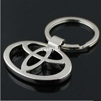 Cheap new 2014 Toyota car logo keychain novelty items promoitonal trinket gadget free shipping