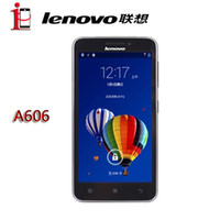 Wholesale Original inch Lenovo A606 RAM MB ROM GB Android MT6582M Dual Core GHz Mobile Phone FDD LTE WCDMA GSM GPS G phone