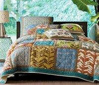 Cheap 2014 New Export Original Single Comfort Set Quilt Set 100% Cotton Flowers Manual Stitching Quilting Bedspread Bedding Set Queen Size