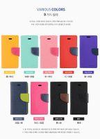 al por mayor wallet case-Mercury Wallet cuero PU TPU híbrido suave caso Folio Flip cubierta para iPhone 4 4s 5 5s SE 5c 6 6s 7 Plus con paquete