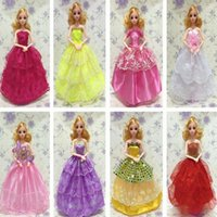 Wholesale Barbies doll Beautiful Gown Party Dresses Doll s Fashion Wedding Dress Clothes Barbie doll clothes barbie doll accessories