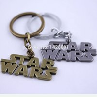 Wholesale new statement Design Children Star Wars logo metal Keyring drop shipping jewelry