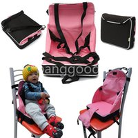children car booster seat - Portable Baby Booster Seat Chair Child Car Safety Seats Travel High Chair Foldable Light Weight Harness for Pink