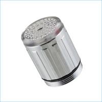 Wholesale led faucet lights lamp Colorful self color kitchen basin mixer tap led water faucet light J14176