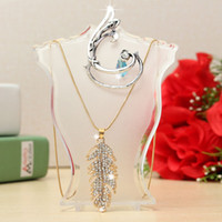 abs earring - New Fashion Jewelry Display Bust ABS Storage Box Mannequin Holder For Earring Hanging Necklace Doll