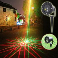 yard decorations for christmas - New Arrival in1 waterproof home garden yard outdoor Christmas decoration Stage Laser light RED GREEN for party disco club wedding