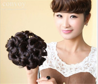 Under $10 accessories curly hair - New Womans cm Curly Wave Buns Bride Chignons Hairpiece Hair Extensions Donut Bun Wrap Maker Hair Accessories FJ06B