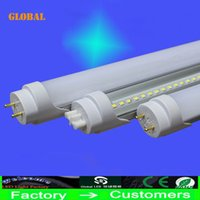 Wholesale 4ft m T8 Led Tube Lights Super Bright W W W Warm Natural Cool White Led Fluorescent Tube Bulbs AC110 V CE ROHS FCC mm By DHL