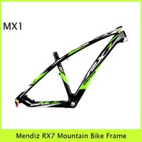 Mountain Bikes mtb bike frame - Green Black Decals Mendiz RX7 Mountain Riding Frameset Glossy Matt Finish Design Your Own Color Paniting Cycling MTB Bike Frames Gears