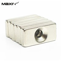Wholesale Hotsales N35 Strong Block Cuboid Permanent Neodymium Magnets x10x4mm with a Hole Speaker Magnets for DIY Freeshipping order lt no tr