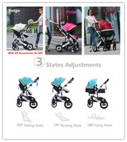 best pushchair - 900D Oxford Materials Aluminum Alloy Made Kids Pushchair Prams With Rain Cover Mosquito Footmuff Etc Best Gift For Newborn Baby