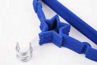 velvet hangers - SH015 New Design Velvet hangers for small clothes Pentagram design hangers for baby kids children